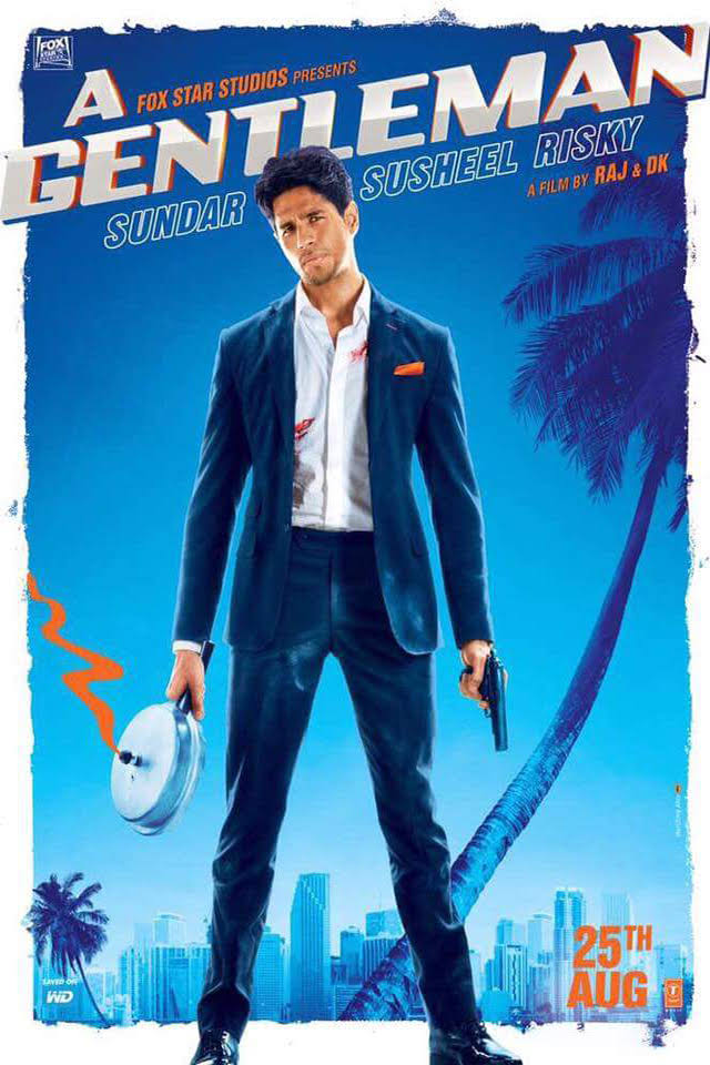 sidharth malhotra gentleman movie poster