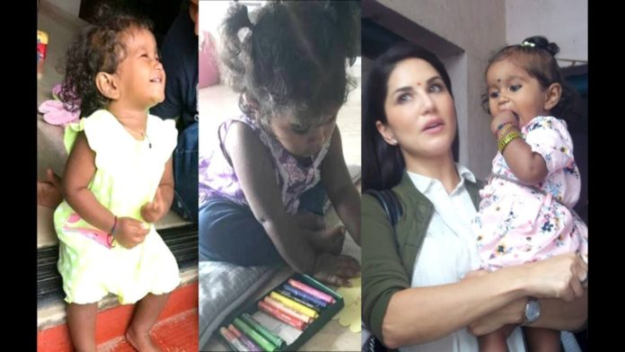 Sunny leone with her daughter