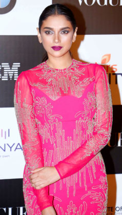 aditi rao hydari in pink dress