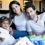 Sunny leone and daniel weber with their baby