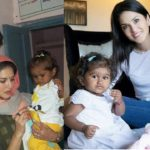 Sunny leone and her husband with her baby